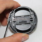 HU 46mm Center Pinch Snap on Front Cap Cover For Camera Lens Filter Plastic LJ