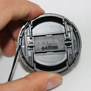 HU 46mm Center Pinch Snap on Front Cap Cover For Camera Lens Filter Plastic、lo