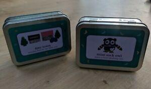 2 x Mini Gift in a tin wooden TINY TOWN / MINI SOCK OWL kids craft New
