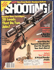 Vintage Magazine SHOOTING TIMES, February 1986 !!! NIKON'S NEW RIFLESCOPES !!!