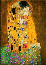 Gustav Klimt-Der Kuss - 50x40cm Leinwand Kunstdruck Sofort Versand