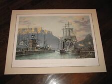 "JOHN STOBART ""CAPE TOWN, The Bark.."" Signed Lithograph 273/950 South Africa"