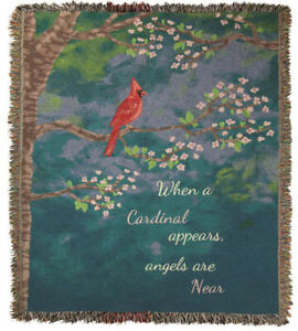 """THROWS - """"ANGELS ARE NEAR"""" THROW BLANKET - 50"""" X 60"""" - BLUE BACKGROUND"""
