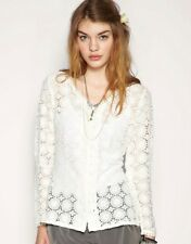 Darling Puff Sleeve Lace Cardigan - Was Selling At Yoox / Asos / Topshop