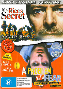 Mr Rices Secret DVD David Bowie Movie + A Problem With Fear - DOUBLE MOVIE PACK