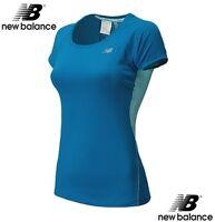 New Balance NB Ice Short Sleeve Sport Top Shirt Ventilating Back Running NWT -