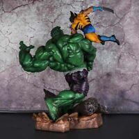 The Avengers 1/6 Anime Superhero X-Men Hulk Vs Wolverine Statue Action Figure