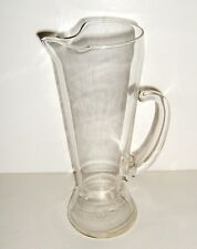 Vintage Tall Clear Glass Pitcher w/ Handle