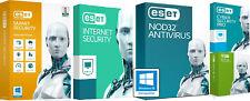 ESET SMART SECURITY PREMIUM, INTERNET SECURITY, NOD32 1/2/3 YEAR 1PC EMAIL DELIV