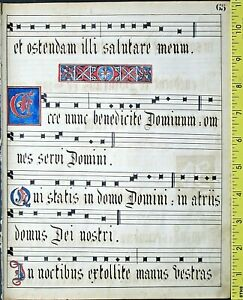 Deco.Latin manusctipt leaf,paper,Deco initials,German scriptorium,18thCent.#65f