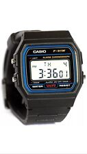 Casio F91wRetro Unisex Black Digital Watch(with Polythene Packing)