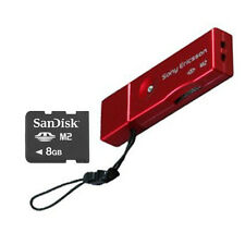 Genuine SanDisk 8GB Memory card with Genuine Sony Ericsson M2 USB Card Reader