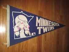 """1969 MINNESOTA TWINS 30"""" Pennant w/ Tassels"""