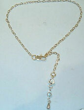 Silver Tone Flowers Anklet New Designer Gold Tone Chain