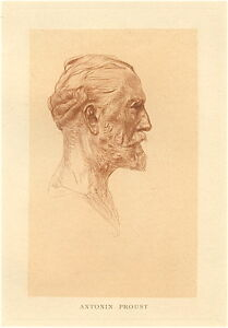 """Auguste Rodin original etching and drypoint """"Antonin Proust"""""""
