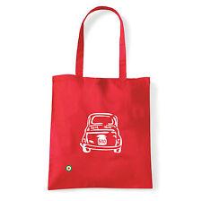 Art T-shirt, Borsa shoulder 500 Fiat, Rossa, Shopper, Mare
