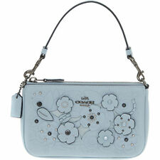 ae2a784bae Coach Women s Nolita Tea Rose Clutch Bag Mini Handbag Pale Blue