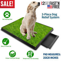 Pet Potty Trainer Grass Mat Dog Puppy Training Pee Patch Pad In&Outdoor Toilet *