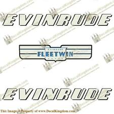 Evinrude 1952 7.5hp Fleetwin Outboard Decal Kit 3M Marine Grade