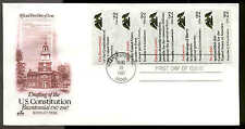 2359a  BOOKLET PANE of 5 DRAFTING CONSTITUTION FDC ARTCRAFT CACHET