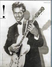 Chuck Berry with Gibson ES-350 guitar circa 1958 b/w 8 x 11 pin-up photo print