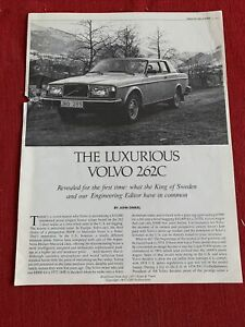 Re-printed article July 1977 Road and track the luxurious Volvo 262C good