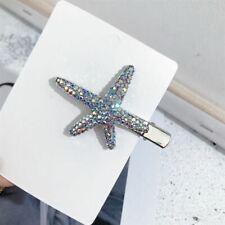 Epingle Pince a Cheveux Argenté Etoile de Mer Pavé AB Cristal FJ1