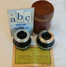 VTG 1930's Spiratone AUX Wideangle VI-W & Telephoto VI-T Camera Lenses & Case