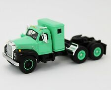 NEW 1:64 First Gear *GREEN & BLACK* Mack B61 Semi Truck w/SLEEPER *NEW*