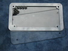 Motorcycle number plate frame / surround & back plate HARLEY DAVIDSON, TRIUMPH.