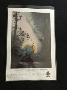 1995 SDCC EXPO PROMO PRINT #229/600 Gaiman's STARDUST HAND SIGNED Charles Vess