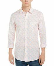 Club Room Men Shirt Orange Size Medium M Tennis Player Print Button Down $59 402