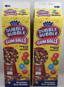 2 x Dubble bubble Gum Balls Refill 454g BEST BEFORE 07/2020