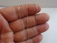 14K SOLID WHITE GOLD CHAIN / ELEGANT AND SRONG SOLID / 18'' LONG/ SOLID & STRONG