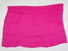 "Vintage 90's Louis Feraud Pink Fuchsia Silk Scarf ~ 34"" x 49"" Made In Germany"