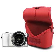 MATIN Neoprene D-SLR RF Mirrorless Camera Soft Body Case Pouch Bag Ver.2 (Red/M)