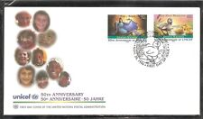 United Nations  NY SC # 688-689 Unicef 50th Anniversary FDC. WFUNA