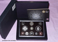 2008 ROYAL MINT PROOF SET COINS - Last Emblems Coinage With Scarce Olympics £2