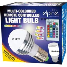 Multi Coloured Remote Controlled Light Bulb 16 Colour Changing Bayonet Adaptor L