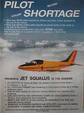 2/1989 PUB PROMAVIA GOSSELIES JET SQUALUS TRAINER AIRCRAFT AVION ORIGINAL AD