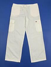 Gas pantalone usato uomo M relaxed comodo gamba dritta misto lino bianco T5238