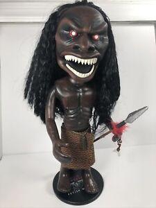 "Zuni Fetish Warrior Trilogy of Terror 13"" Replica Doll + Stand 2004 Majestic"