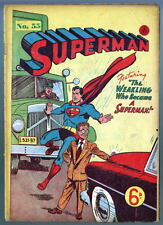 Australian SUPERMAN 55 DC Comics 1950's w Superman 85 cover UK