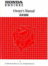 Honda GX360 Engine Owners Manual : 31ZA0753