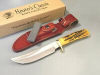 "NAHC H1734 HUNTER'S CLASSIC Orange Stag Bone full tang knife 9 3/8"" overall NEW!"