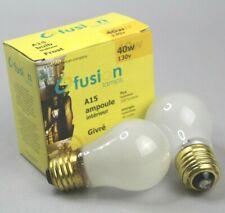 2 Fusion Lamps 40 WATT, A-15 APPLIANCE, FAN, UTILITY BULBS, A15 FROST