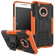Etui Hybride 2teilig Extérieur Orange pour Lenovo Moto G5 Plus étui housse coque