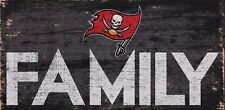 """Tampa Bay Buccaneers Bucs FAMILY Football Wood Sign NEW 12"""" x 6"""" Decoration Gift"""