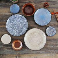 "Ceramic Dinnerware Sauce Sushi Round Plate Dessert Dish 6.5"" 3.7"" 8"" Kitchen"