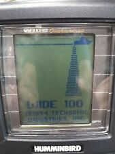 Humminbird Wide 100 / One Hundred Fish Finder. With case - No transducer